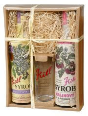 Gift box for children (Raspberry and Elderflower syrups)