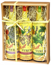 Kitl Syrob Gift box 3x 500 ml (Elderflower, Ginger and Mint)