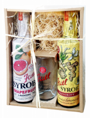 Kitl Syrob gift box 2x 500 ml (Grapefruit and Ginger syrup) + glass
