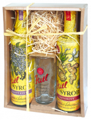 Kitl Syrob gift box (Elderflower and Ginger syrup + glass)