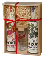 Kitl Syrob gift box 2x 500 ml (Grapefruit and Black currant + glass)