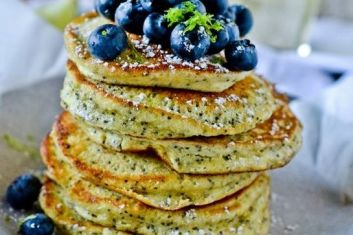 Poppy Seed & Lime Pancakes with Kitl Elderflower Syrup