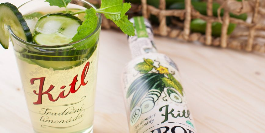 Kitl introduced Cucumber syrup in organic quality, the first in the Czech Republic